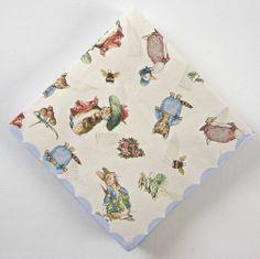 Beatrix Potter Napkin, Peter Rabbit Shower