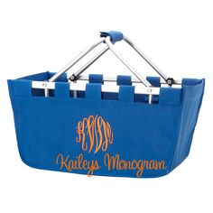 Monogrammed Market Tote Royal Blue Picnic Basket Game Day Kentucky Wildcats Football Kaileys Monogram Kaileysmonogram by KaileysMonogramShop on Etsy