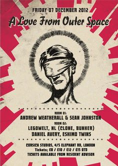 Top notch listening - A live recording of A Love From Outer Space founders Andrew Weatherall and Sean Johnston.