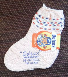 Hey, I found this really awesome Etsy listing at https://www.etsy.com/listing/209626592/tiny-vintage-pink-dolsox-doll-socks