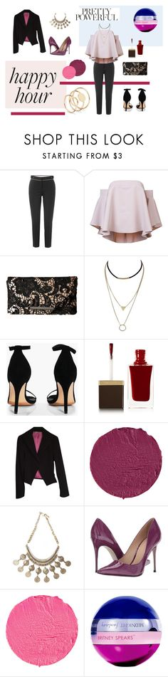 """Happy hour... we deserve!"" by tinita-sjm on Polyvore featuring Dsquared2, Milly, Jessica McClintock, Boohoo, Tom Ford, Stefanel, Givenchy, Urbiana, Massimo Matteo and Britney Spears"