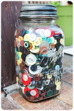 I remember Mom's button jar.....