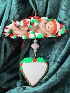 Baby's first Christmas Ornament by ClayHoliday on Etsy, $45.00