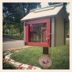 Tiny lending library!!!