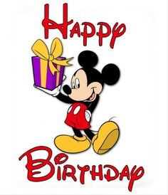 Happy Birthday Wishes From Mickey Mouse Card Happy Birthday Mickey Mouse, Happy 35th Birthday, Birthday Cartoon, Mickey Mouse Parties, Happy Birthday Quotes, Happy Birthday Images, Birthday Pictures, Happy Birthday Wishes, Minnie Mouse
