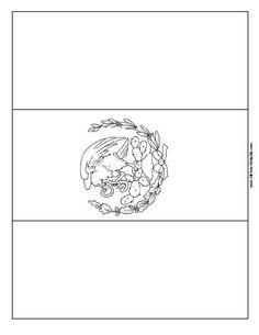 Mexican Flag Print Out free colorable Mexican Flag Coloring