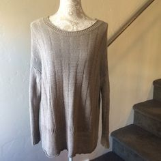 Vince Sweater Tunic Looks amazing with leggings and booties! So comfortable and chic. Excellent quality, will last you forever. Feels great to the touch. Nice neutral color that will go with everything! Feel free to ask questions or make offers. Happy to give bundle discounts - check out my other listings! Vince Sweaters Crew & Scoop Necks