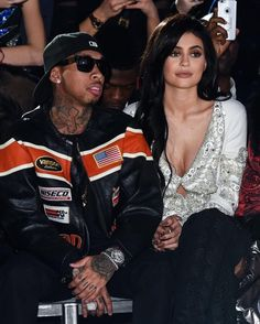 Tyga Attends Philipp Plein Show With Kylie Jenner In Style