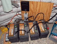 Our solar panel setup is functioning well. We were fortunate enough to find 12 Volt 100 AMP batteries in excellent condition for $45 each. As opposed to spending $250 each. Our set up is simple, but we'll have to expand when we get the addition two solar panels sometime this year.