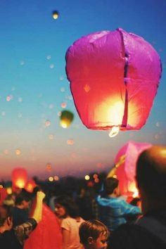 Floating lanterns, love this idea for a birthday Floating Lanterns, Candle Lanterns, Floating Lights, Sky Lanterns, Night Moves, Joy Of Life, New Perspective, Oh The Places You'll Go, Party Time