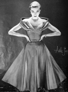 1951 Vogue US  love the collar!