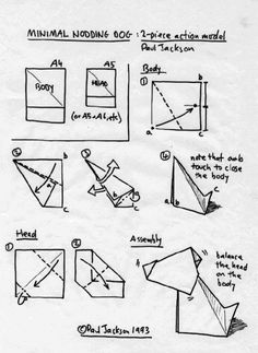 182 best origami fauna images on pinterest in 2018 origami rh pinterest com complex origami dog diagrams complex origami dog diagrams