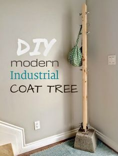 Ana White | Modern Industrial Concrete Wood Coat Tree - DIY Projects