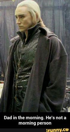 Lee Pace as Thranduil in The Hobbit (behind the scenes) Lee Pace Thranduil, Legolas And Thranduil, Thranduil Funny, Ben Barnes, Orlando Bloom, Keanu Reeves, O Hobbit, Elf Ears, Jackson