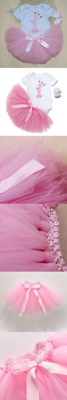 3pcs Newborn Gift Clothing Set Baby Girls Birthday Cotton Mesh Ruffle Girl Christening Gowns Bodysuit Tutu Skirt Headband Set
