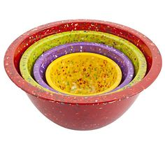 Win a Zak Designs Confetti Nested Bowls Set of 4 - Assorted, Red, $40 value #LaPrimaRoyale