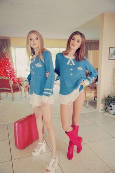 WILDFOX 'Resort 15 The Girls Of Beverly Hills Knitwear / sweater designs by Andi Ballard Sharp