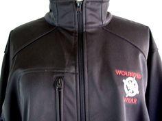 Combat Wounded Warrior Project Wear Black Zip Front Jacket UltraClub Mens sz L #UltraClub #BasicJacket