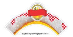 Festa de Aniversário com o Tema Boteco Xadrez vermelho e branco, com rótulo de cerveja, convites, rótulos para copos, gratuito para imprimir.