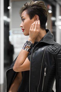 micah Gianneli_Top fashion blogger_Rihanna Riri style_WSI Watches_Emporium Melbourne_Karl Lagerfeld Watch_Monochrome editorial_Short hair style women