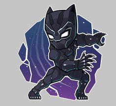 The Avengers Black Panther Vinyl Decal Chibi Marvel, Marvel Art, Marvel Heroes, Marvel Avengers, Black Panther Marvel, Black Panther Art, Avengers Cartoon, Marvel Cartoons, Marvel Drawings