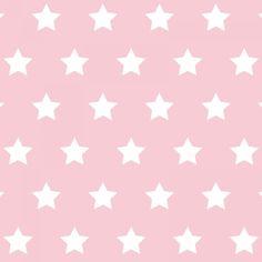 Geschenkpapier Sterne rosa: Rosa Geschenkpapier mit weissen Sternen (der Stern ist ca. 2 cm gross) - wunderbar für Tauf- oder Weihnachtsgeschenke - 3 Bögen - ...