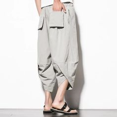 Men New Cotton Linen Wide Leg Pants Japanese Style Kimono Male Fashion Casual Loose Comfortable Trousers Skirt Pant - Men's style, accessories, mens fashion trends 2020 Mens Kimono Shirt, Male Kimono, Smart Casual Men, Stylish Men, Fashion Pants, Mens Fashion, Fashion Outfits, Fashion Models, Mens Linen Outfits