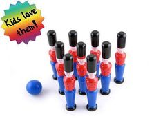 WOW Eco Wooden Soldiers Traditional Skittles Bowling Toy Wood Natural CE Gift  | eBay Bowling, Art Supplies, Soldiers, Wooden Toys, Traditional, Natural, Gifts, Ebay, Toys