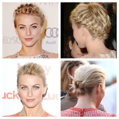 Julianne Hough updos short hair