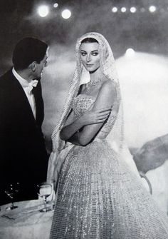 Carmen Dell'Orefice by Avedon ~ Oct. 1957 Bazaar ~ Designer: Dior