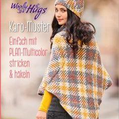 Woolly Hugs Karomuster stricken Veronika Hug, Shawl, Crochet Hats, Mandala, Products, Youtube, Fashion, Pictures, Knitting And Crocheting