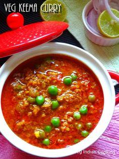 Veg Indian Cooking: Veg Keema Curry