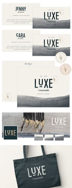 Luxe Events Brand launch - Design by Salted Ink | Brand Collateral Design | www.saltedink.com | Brand Stylist
