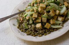 Lemon Cucumber Tofu Salad