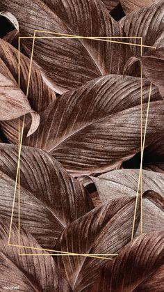 premium illustration of Bronze tropical leaves patterned poster Bronze tropical leaves patterned poster Phone Screen Wallpaper, Framed Wallpaper, Cellphone Wallpaper, Wallpaper Backgrounds, Iphone Wallpaper, Wallpaper Patterns, Fond Design, Rose Gold Wallpaper, Bronze