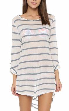 grey stripe tunic dress