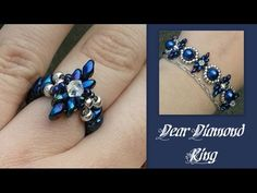Project of today: How to make this beginners Dear Diamonds ring to go with the bracelet. Easy to follow for beginners. Enjoy! *************(^_^)************Important links and information***********(^_^)************ ** Link to my Etsy shop** https://www. Tutorial, Beads, Ring, Tuto,