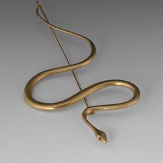 Gabriella Kiss - Large Gold Snake Pin  Gabriella Kiss