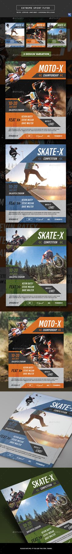 Extreme #Sports #Flyer - Sports Events Download here: https://graphicriver.net/item/extreme-sports-flyer/19716860?ref=alena994