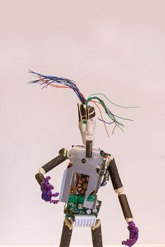 Robot Found Object Sculpture made from Computer by NancySolbrig, $68.00