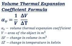 formula to calculate volume thermal expansion coefficient @ http://ncalculators.com/mechanical/area-thermal-expansion-coefficient-calculator.htm