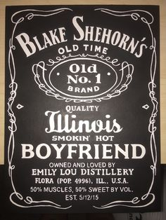 Jack Daniels themed canvas I made for my boyfriend. All personalized for him. ☺️