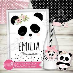 Panda Bear Cake, Panda Party, Baby Shower, Digital Invitations, 10th Birthday, Party Printables, Minnie Mouse, Diy, Erika
