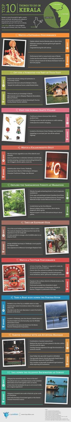TOP 10 things to do in Kerala Infographic