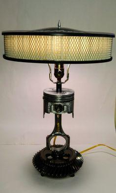 Lámpara de pistón