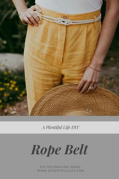 DIY Rope Belt    A simple and easy diy rope belt that is great for summer.  Check out this Summer Outfit for the link.