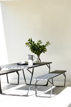 The Flint Table by Ross Gardam perfect for summer alfresco dining.