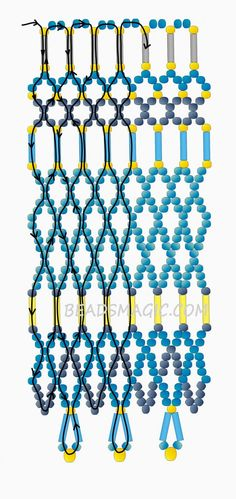 Free pattern for necklace Egypt | Beads Magic - 2 --U need Seed beads, 11/0, Bugle Beads