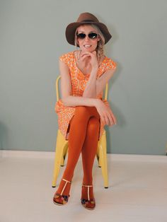 Red Tights, Tights Outfit, Orange, Spring Summer 2015, Stockholm, Bunt, Ph, Berlin, Jumpsuit