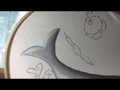 Pintura En Tela Delfín # 1 Con Cony - YouTube